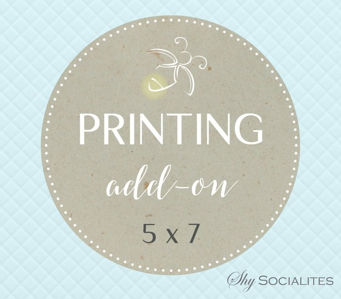 printing service add on for invitations with by shysocialites on