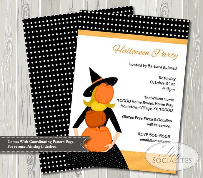 Halloween Hostess Impossible Pumpkins Invitation | Halloween Party, Black,