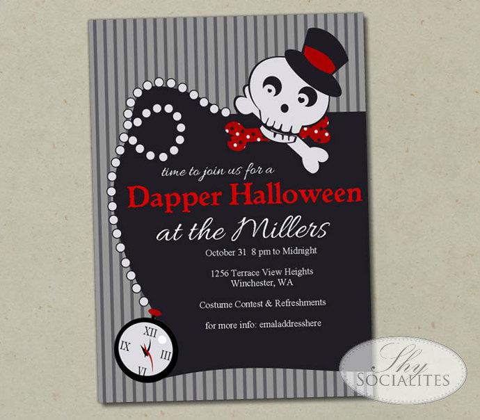 Halloween Costume Party   Dapper Skull   Dress-Up Halloween Party   Black Tie