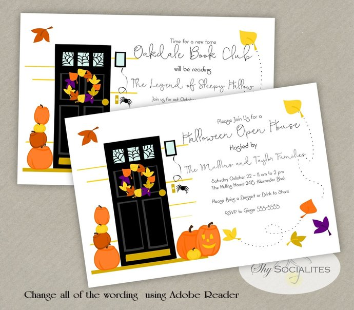 Halloween Party | Open House, Welcome, Jack O Lanterns, pumpkins, home,