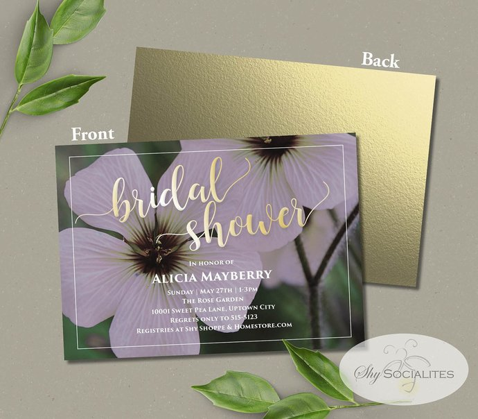 White and Gold Bridal Shower Invitation | Instant Download TEMPLATE | Editable