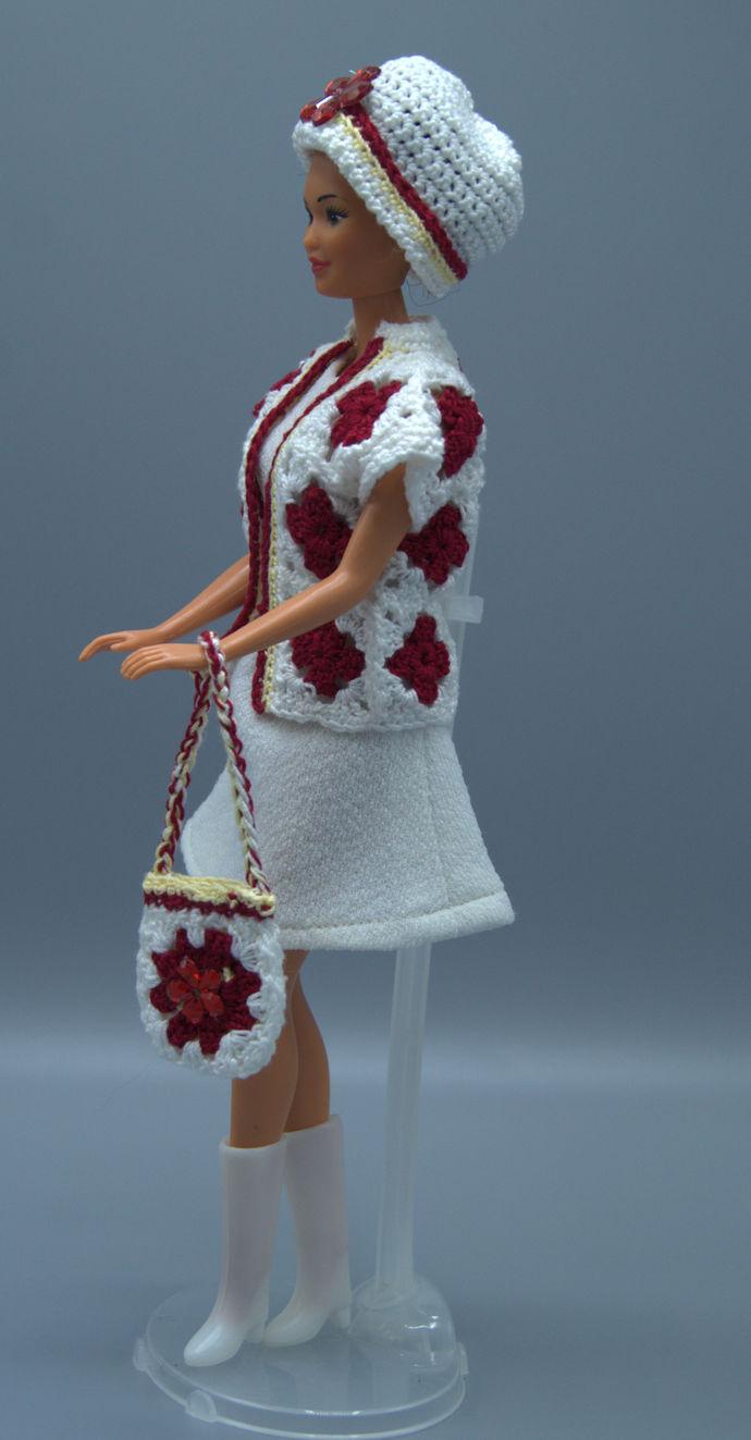 Barbie Granny Square  Crochet Jacket Set