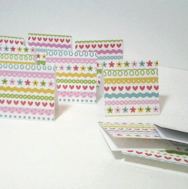 15 mini cards or gift tags hearts and by smiles4paper on zibbet