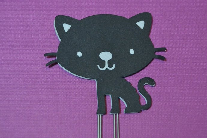 Black Cat Planner Clip, Halloween Page Clip, Bookmark, Paper Clip, Handmade