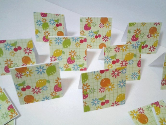 16 mini cards or gift tags flowers and by smiles4paper on zibbet