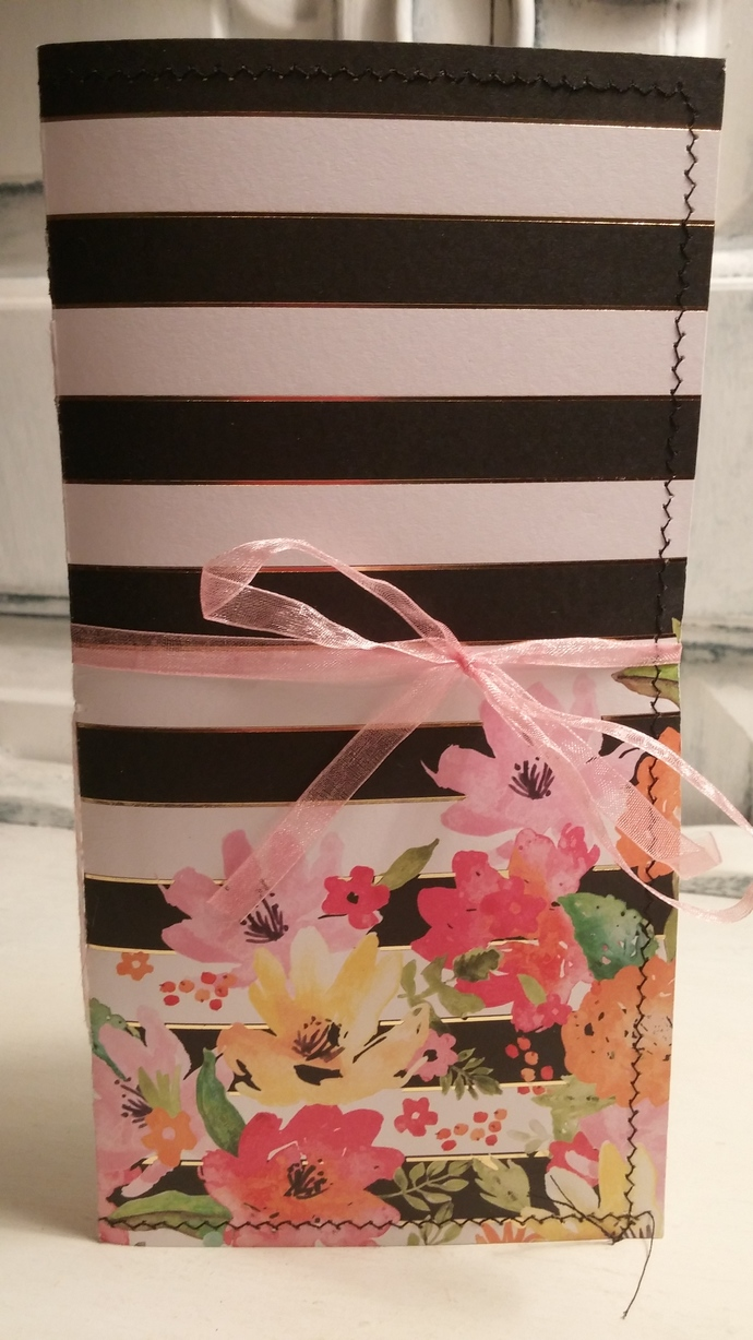 Flowers and Stripes Traveler's Notebook
