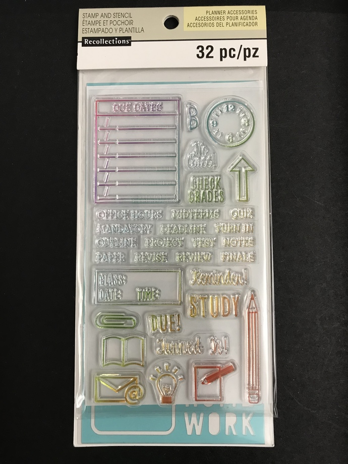 Planner Stamps and Stencil Set by Recollections