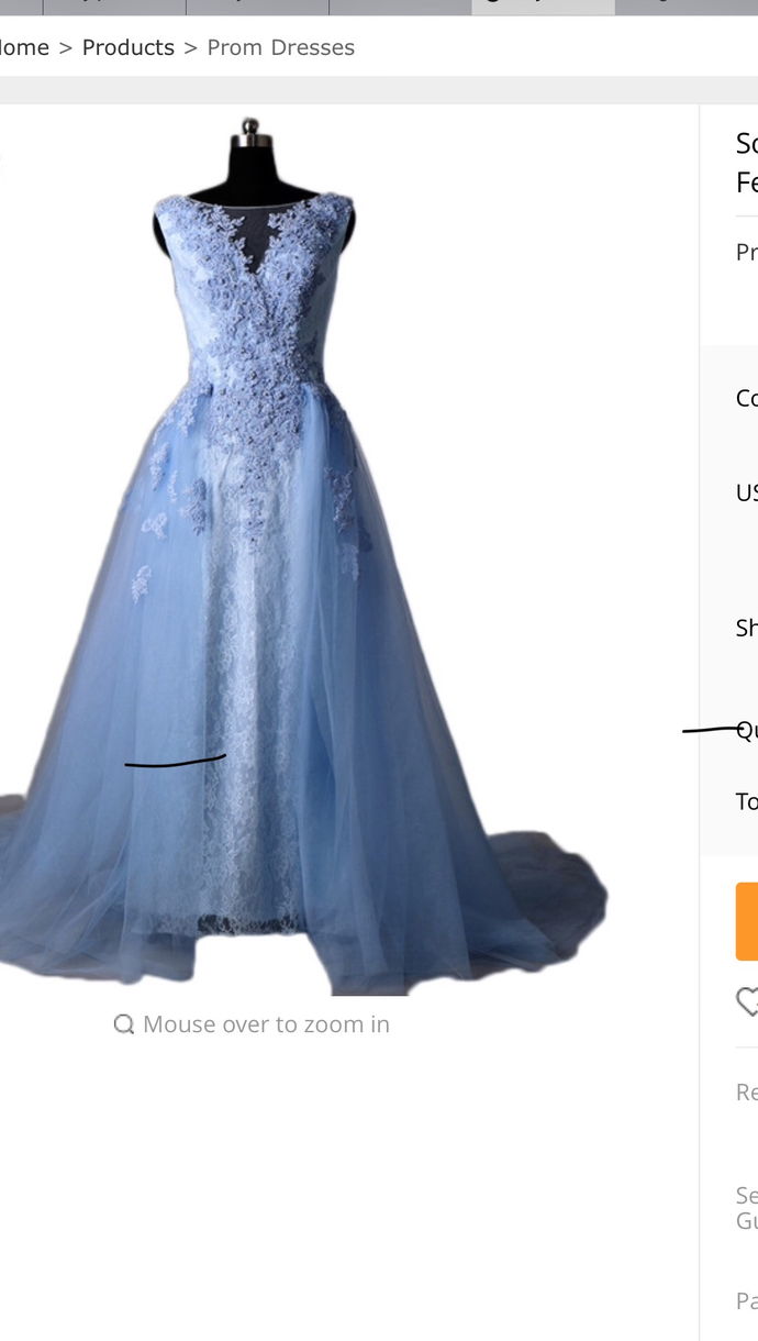 Light Blue Tulle Prom Dresses, ball gown Prom by Hiprom on Zibbet