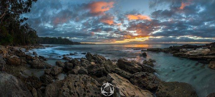 Blenheim Beach Sunrise Panorama