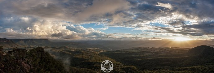 Megalong Valley Sunset - Panorama