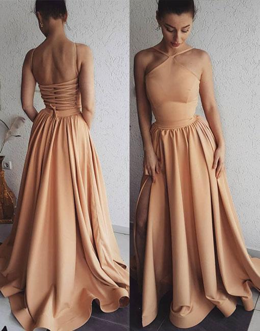 Unique Long Prom dress, Woman Evening Dress Backless