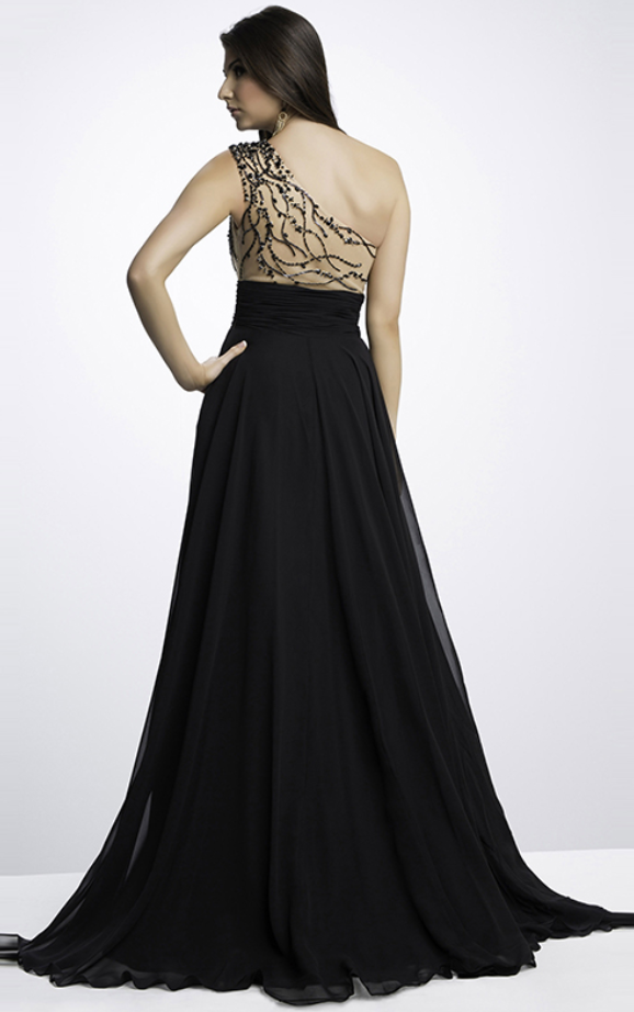 one shoulder evening dress tail black dress sexy dance stretch
