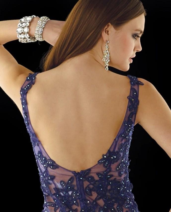 Sleeveless Prom Dresses, Royal Blue Prom Dress, See Through Prom Dresses,Mermaid