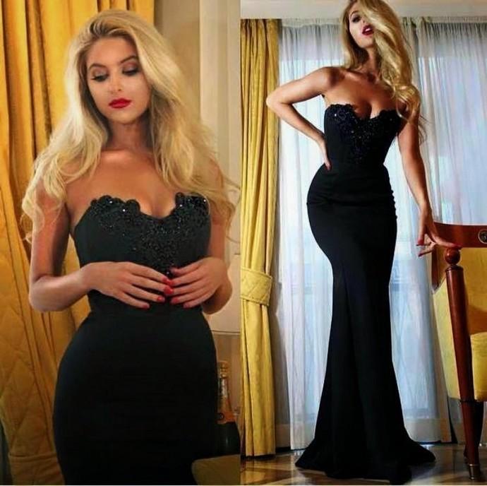 Sexy Evening Dress, Mermaid Evening Dress, Sweetheart Evening Dress, Spandex