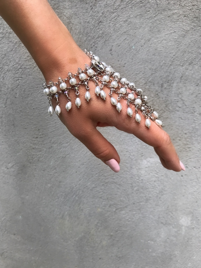 Pearl Bracelet Seona, Bridal Bracelet Slave