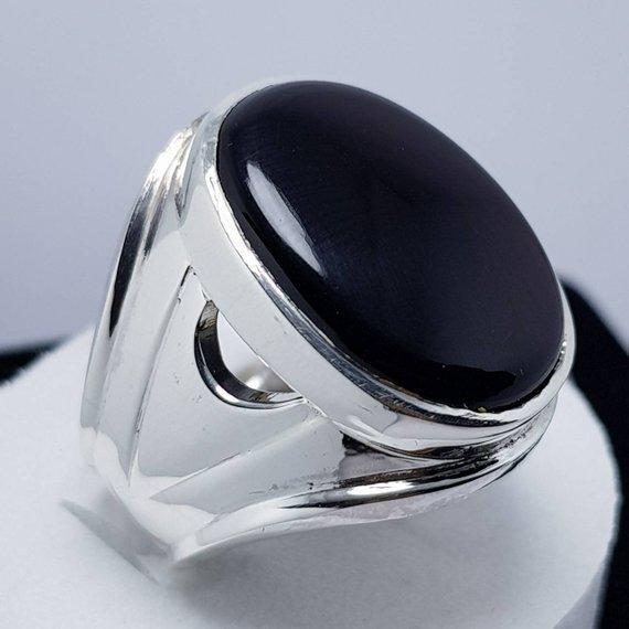 85a2a8eae09ef Mens Kabadi Black Aqeeq Ring Yemeni Aqeeq Ring for Men Mens Yameni Aqeeq  Ring Black Aqeeq agate Ring Akik Ring Shia Rings Sterling Silver