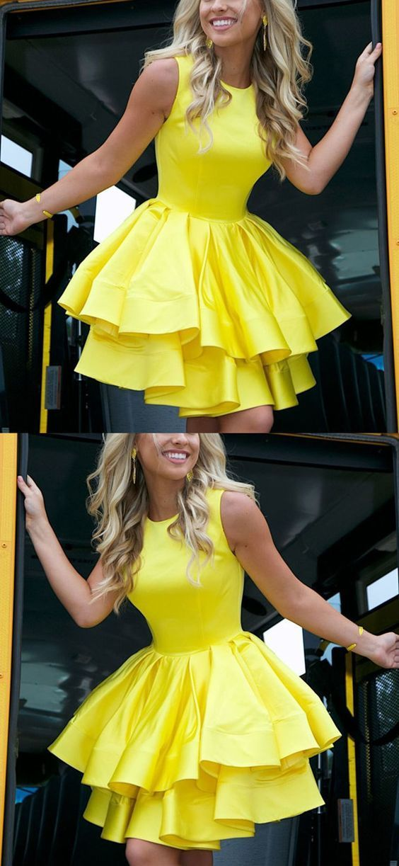 90f0fc152c4 Yellow Homecoming Dresses
