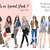 Watercolour fashion illustration clipart - Girls in Animal Print 2 - Light Skin