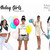 Fashion illustration clipart - Birthday girls - Dark skin