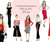 Watercolour fashion illustration clipart - Girls in Red and Black
