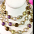 925 Sterling Silver Semi Precious Mulit Color stone Chain Jewelry Necklace
