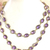 925 Sterling Silver Faceted Natural Purple Amethyst  Royal Chain Jewelry