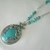 Turquoise Necklace boho hippie bohemian gypsy southwestern country western