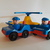 Vintage Fisher Price Little people- Police cars 2 little people policemen and a