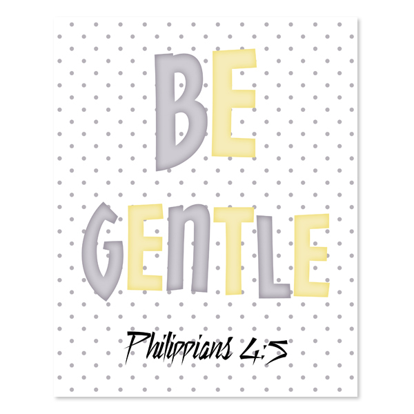Be Gentle_Yellow Set - Printable Wall Art