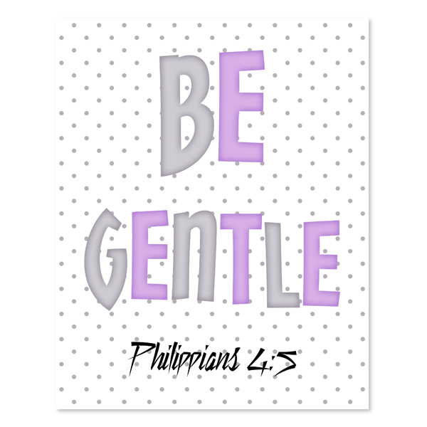 Be Gentle_Lavender Set - Printable Wall Art