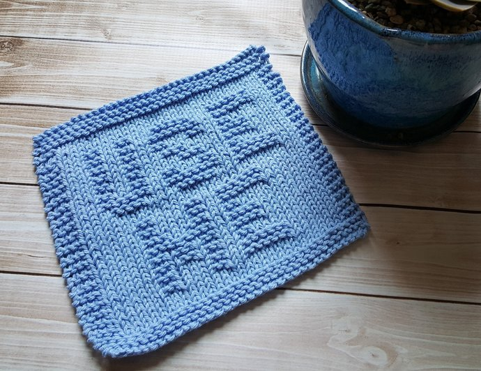 Knitted Dishcloth Pattern Use Me Pdf By Getknitfacedinco On Zibbet