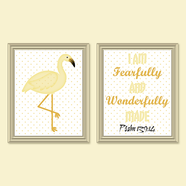 Fearfully & Wonderfully Made_Yellow Set - Printable wall Art