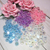 10 pcs Transparent Flower Embellishment - 8 mm Clear, Blue, Purple, Pink stl