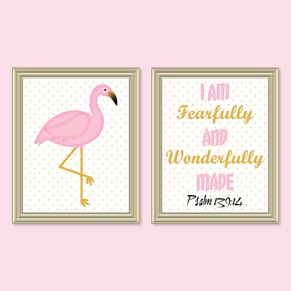 Fearfully & Wonderfully Made_Pink Set - Printable Wall Art