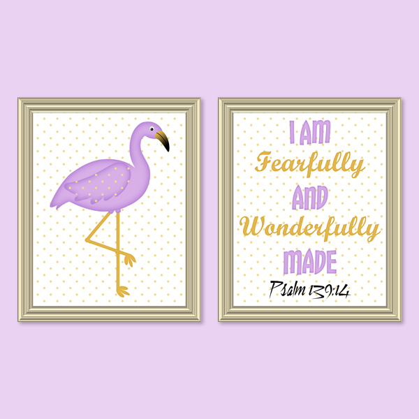 Fearfully & Wonderfully Made_Lavender Set - Printable wall Art