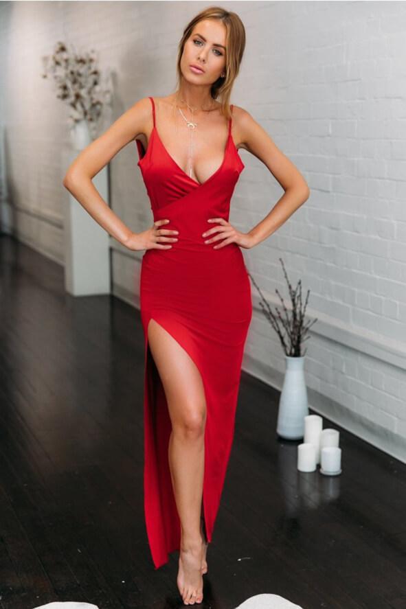 Red Maxi Dress Prom Dress