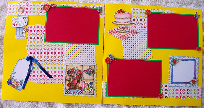 Mother's day boy 12 x 12 lay out - double page