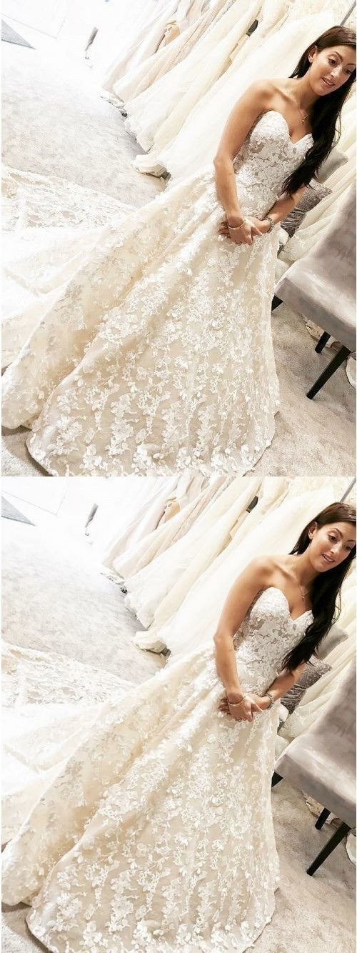 dream wedding dresses with appliques, by formalgowns on Zibbet