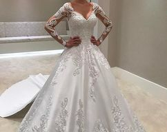 Newest white applique wedding dress simple by formalgowns on zibbet