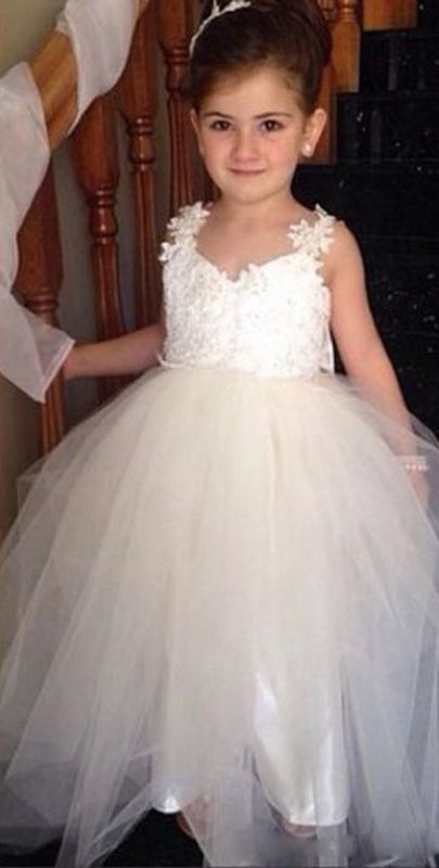 54b1287a50b3 Cute Cheap Flower Girl Dress with Bow Lace by formalgowns on Zibbet