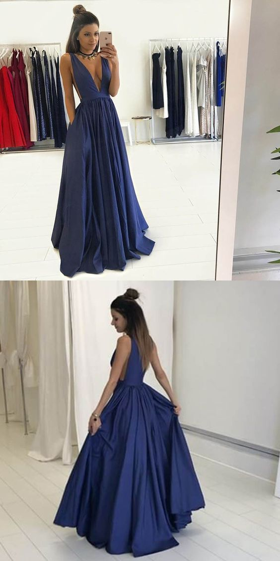Deep V Neck Fashion Sex Long Prom Dress Long By Formalgowns On