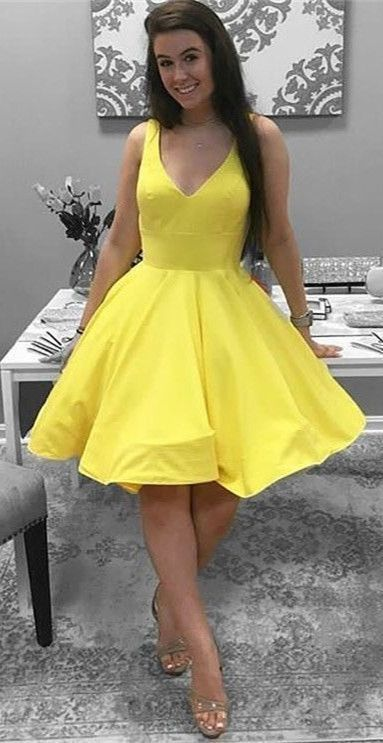 Yellow Party Dresssimple Short Homecoming By Formalgowns On Zibbet