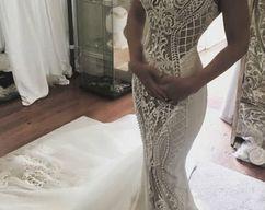 857569e698d44 mermaid lace wedding dress, gorgeous high neck bridal dress