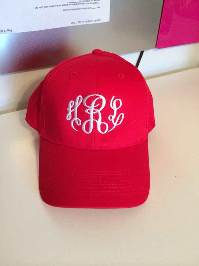 257c83afcf0 SALE Monogrammed Baseball Hats Great for by Kim s embroidery on