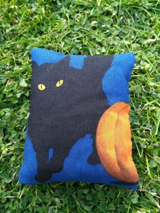 Black Cat Lavender Pouch Bag, Halloween, Witch's Cat, Modern Lavender Bag,