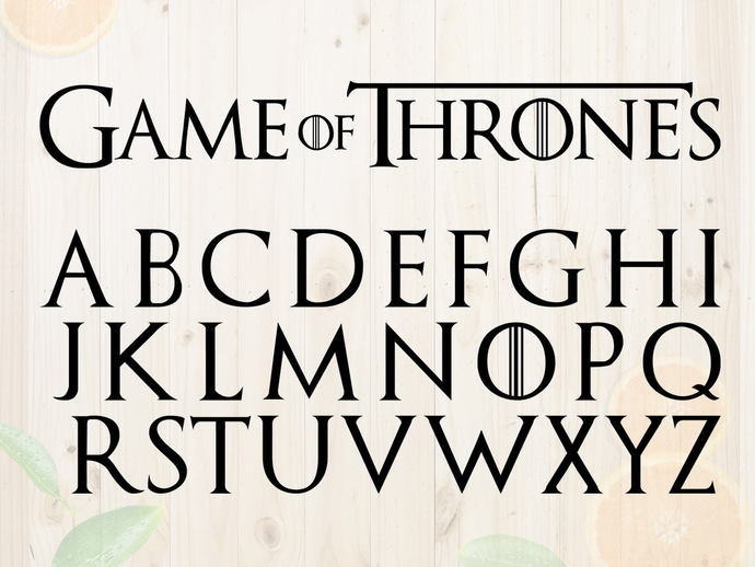 Game of thrones Alphabet Svg, Game of thrones Characters and letters cut files,