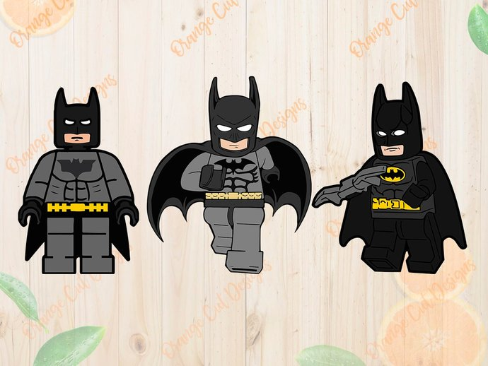 Batman lego Svg, Batman lego Cutfiles: Dxf, Eps & Png clipart, Batman svg for