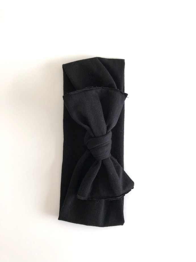 Charcoal Black Baby Headwrap By By The Babes On Zibbet