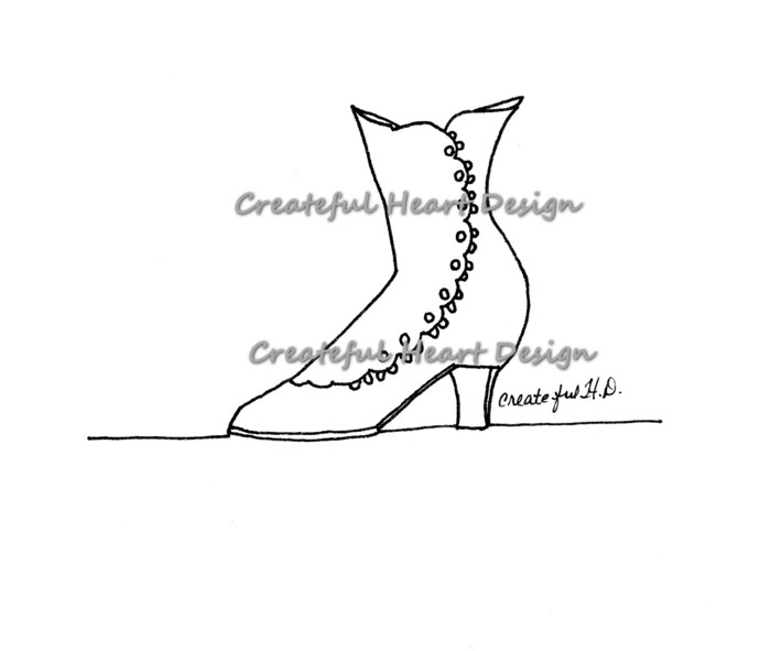 Ladies Boot - Digital Stamp