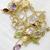 Beautiful! Sterling Silver Semi Precious Mulit Color Semi Precious  stone Chain